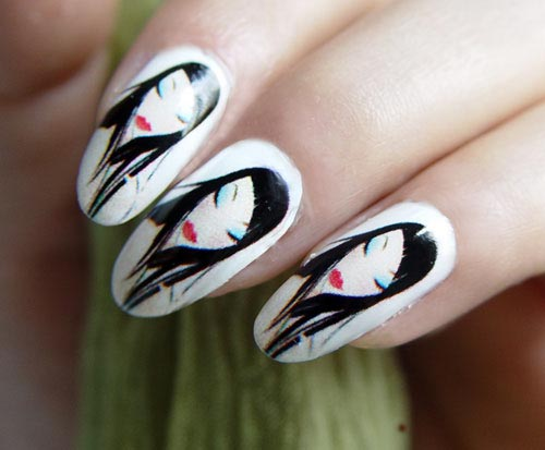 Фото дизайн ногтей с лицами